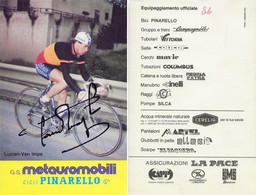 CARTE CYCLISME LUCIEN VAN IMPE SIGNEE TEAM METAUROMOBILI 1984 - Ciclismo