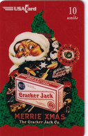 USA - Santa Claus, Merrie Xmas, Cracker Jack, USAcard Prepaid Card 10 Units, Tirage 2500, Mint - Unclassified