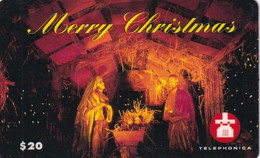 USA - Mery Christmas, Telephonica Prepaid Card $20, Used - Non Classificati