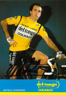 CARTE CYCLISME LEONARDO NATALE SIGNEE TEAM DEL TONGO 1984 - Radsport