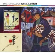 SIERRA LEONE 2017 SHEET RUSSIAN ARTISTS ART PAINTINGS ARTE PINTURAS Srl17107b - Sierra Leone (1961-...)