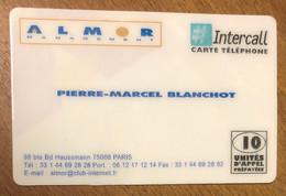 INTERCALL ALMOR CARTE DE VISITE 10 UNITÉS PRÉPAYÉE TÉLÉPHONIQUE À CODE PREPAID PHONECARD CARD PAS UNE TÉLÉCARTE - Prepaid Cards: Other