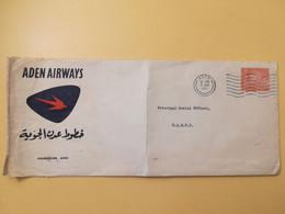 1962 BUSTA INTESTATA ADEN AIRWAYS BOLLO CAMEL QUEEN ELIZABETH REGINA OBLITERE' ADEN - Aden (1854-1963)
