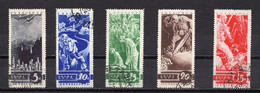 1935. RUSSIA, SOVIET, USSR, ANTI WAR, SET OF 5 STAMPS, USED - Used Stamps