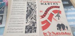 CHANSON SOCIALE/ MARCHE DE L EXPOSITION /MARCEAU/DEDIE A FRANCOIS DEDENIS BRIVE LA GAILLARDE - Partituren