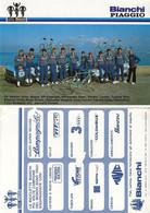 CARTE CYCLISME GROUPE TEAM BIANCHI - PIAGGIO 1984 - Cycling