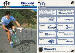 CARTE CYCLISME PAOLO ROSOLA TEAM BIANCHI - PIAGGIO 1984 - Cycling