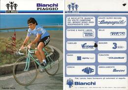 CARTE CYCLISME FABRIZIO VERZA SIGNEE TEAM BIANCHI - PIAGGIO 1984 ( VOIR PARTIE ARRIERE ) - Cycling