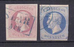 Hannover - 1859 - Michel Nr. 14/15 - Gestempelt - 60 Euro - Hanover