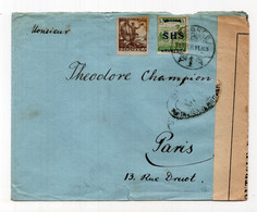 1919. KINGDOM OF SHS,CROATIA,ZAGREB TO PARIS,FRANCE,MILITARY CENSOR - Storia Postale
