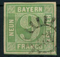 BAYERN MÜHLRADSTEMPEL AUF Nr 5cIII GMR 427 ZENT X8825E2 - Bavaria