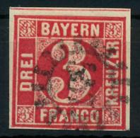BAYERN MÜHLRADSTEMPEL AUF Nr 9 GMR 557 Zentrisch Gestempelt X884076 - Bavaria