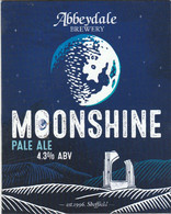 ABBEYDALE BREWERY   (SHEFFIELD, ENGLAND) -  MOONSHINE - PUMP CLIP FRONT - Signs