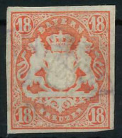 WAPPEN-AUSGABE 1867-1868 Nr 19 Gestempelt X88FE9E - Bavaria