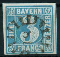 BAYERN MÜHLRADSTEMPEL AUF Nr 2II GMR -18 ZENTR- X88FFDE - Bavaria