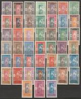 Dahomey 1913-39 Sc 42-86 Yt 43-59,61-5,70-8,85-98 Complete Set Most MH* - Ungebraucht