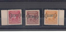 Costa Rica 1953 Roosevelt Mi#483-485 Mint Never Hinged - Costa Rica