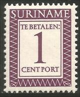 836 Suriname Taxe 1 Cent 1956 MNH ** Neuf SC (SUR-064) - Surinam