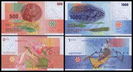 Comoros 500 And 1000 Francs 2020/2021, Hybrid Notes, UNC - Comoros