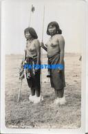 167892 PARAGUAY COSTUMES NATIVE WOMAN'S SEMI NUDE POSTAL POSTCARD - Paraguay