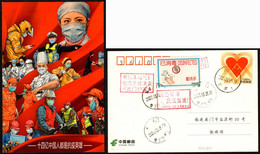 China COVID-19 Postcard:We Are All Anti-epidemic Heroes; Sent After Resumed Work; Wash Hands Frequently - Krankheiten