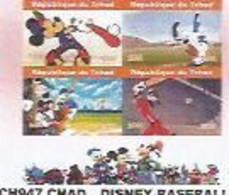 CHAD - 2020 - Disney, Baseball - Perf 4v Sheet  - Mint Never Hinged - Tschad (1960-...)