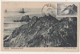 CM-Carte Maximum -1946 Sites & Monuments ,Pointe Du Raz,phare,obl. Plogolf - 1940-49