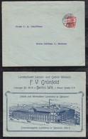 Deutsches Reich 1911 Brief Werbung GRÜNFELD WEBEREI LANDESHUT Schlesien KAMIENNA GORA Poland - Briefe U. Dokumente