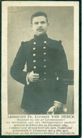 WO1 / WW1 - Doodsprentje Lucianus Van Herck - Geel / Diksmuide - Gesneuvelde - Esquela