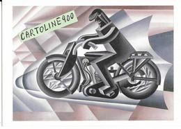 Moto Cartolina Futuristisca Illustratore Depero Futurismo Il Motociclista (v.retro) - Motorräder