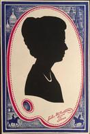 """Carte Silhouette """"Felix Mikowski ?"""" Paris, (silhouette Feutrine Profil Femme), Origine? Dos Uni, Format 8 X 11,5 Cms - Siluette"""
