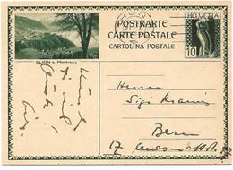 """253 - 68 - Entier Postal Avec Illustration """"Glion"""" Oblit Mécanique 1930 - Entiers Postaux"""