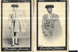 CHROMOS    CORRIDAS    TOREADOR SERIE 2 //  N 19  GONZALITO    // N 20  GUERRA CHOCOLATE JUNCOSA  10.5 X 6.5 CMS - Andere