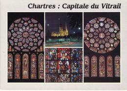 28 - Chartres - Cathédrale - Vitraux - Multivues - Chartres