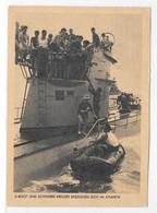 DT- Reich (009489) Propagandakarte, U-Boot Und Schwerer Kreuzer Begegnen Sich Im Atlantik, Mit SST München Vom 30.1.1943 - Briefe U. Dokumente