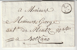"Lettre Avec Marque ""P.P. De Reims"" Pour Bolzano / Tyrol (sauf Erreur), Avril 1783 - 1701-1800: Precursors XVIII"