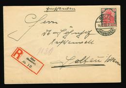 Reco Beleg 1922 Infla EF Mi Nr. 153 Bedarfsbrief Gelaufen Sülze Bei Hannover Nach Soltau - Infla