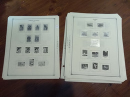 10401- Lot Of 59 Scott Album Pages. Commonwealth, Years 1979-1980 Countries: Niue, Norfolk, Bahamas, Solomon, Virgin, Sa - Stamp Boxes