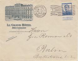 Belgien: 1914: Bruxelles/Grand Hotel To Berlin - Zonder Classificatie