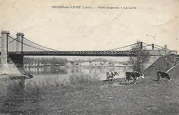 45)  MEUNG  Sur LOIRE  -  Pont Suspendu  -  La Loire - Altri Comuni