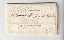 Lettre Format Carte De Visite Paris à Guingamp, Date à Préciser ... - 1801-1848: Precursors XIX