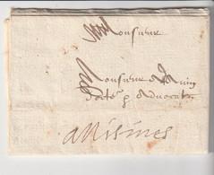 Lettre Avec Correspondance Pour Nîsmes, Date à Préciser ... - 1801-1848: Precursors XIX