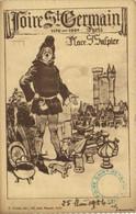 Illustrateur Foire St Germain 1176 1924 Paris Place St Sulpice Brocante Spectacle  RV - Distretto: 06