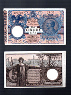 Italie  Biglietto Di Stato Cinque Lire  (PPP31036) - Unclassified