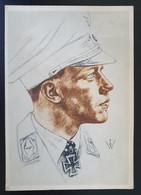 """Deutsches Reich 1943, Postkarte """"Major Wick"""" Komandore Eines Jagdgeschwaders - SCHANBERG - Storia Postale"""