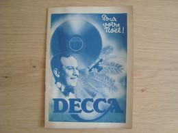DOCUMENT PUBLICITAIRE DECCA - Advertising