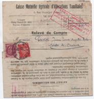 Pétain 20c Type PROST + 1F LEMAGNY / Document Tarif Imprimés 1F20 AJACCIO CORSE 1942 Arrivée LORETO Di CASINCA - Lettres & Documents