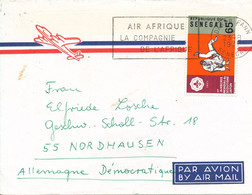 Senegal Air Mail Cover Sent To Germany DDR Dakar 23-8-1971 Single Franked Scout Scouting - Senegal (1960-...)