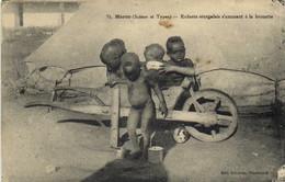 Maroc ( Scènes Et Types ) Enfants Sénégalais S'amusant à La Brouette RV - Altri