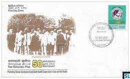 Sri Lanka Stamps 2001, The Colombo Plan, FDC - Sri Lanka (Ceylon) (1948-...)
